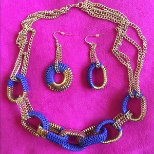 Jewelry - Host Pick 2/15/16. 2 pieces jewelry in royal blue.